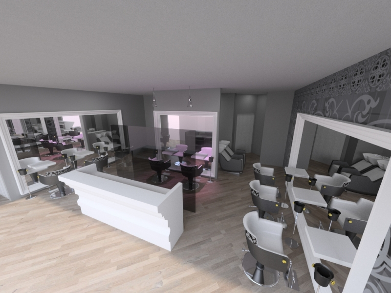 Reception area in salon floor plan 3d joy studio design for 3d salon design software