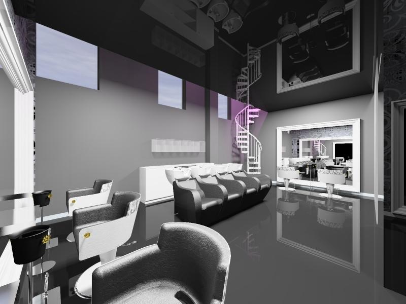 Salon Space - 80mq - 860ft - Technical and Shampoo Unit Area
