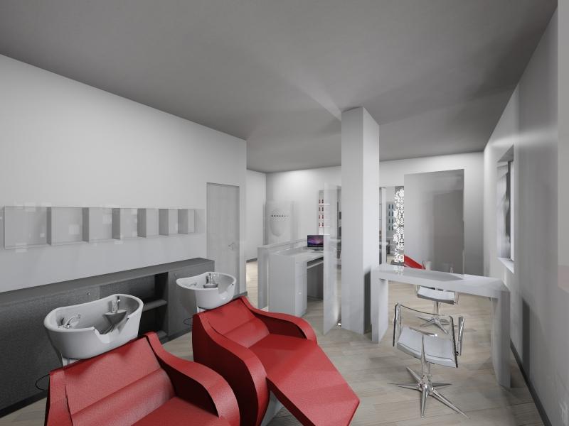 Salon Space - 30mq - 322ft - Shampoo Unit Area