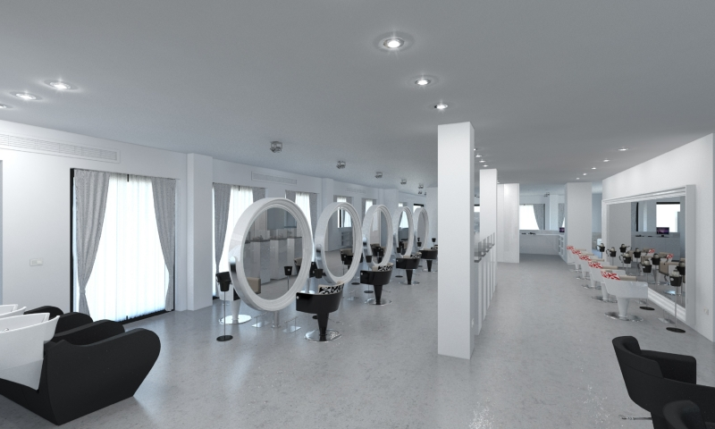 Salon Space 340mq - Styling Area