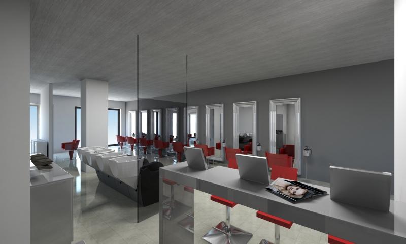 Salon Space 170mq - 1830sf - Shampoo Area