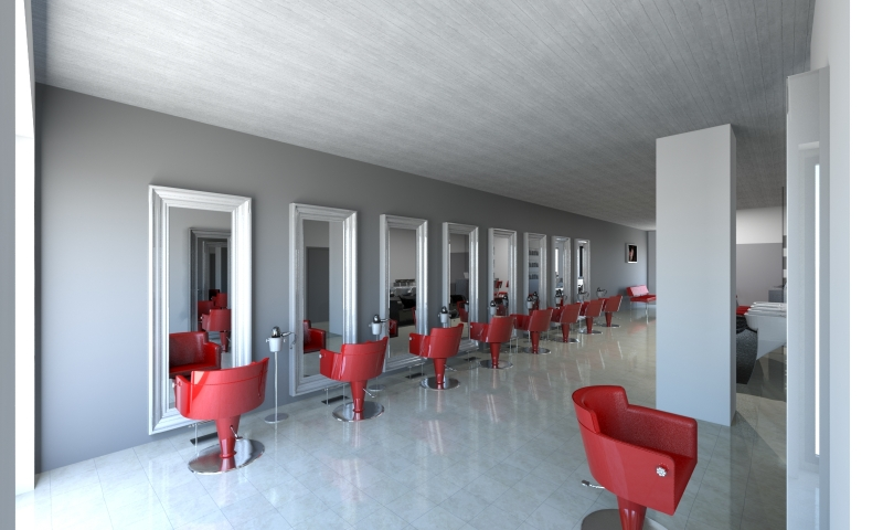 Salon Space 170mq - 1830sf - Styling Area