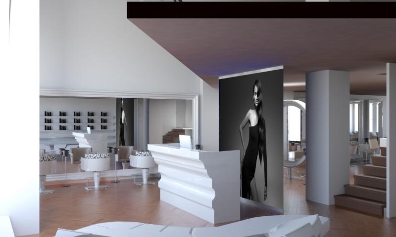 Salon Space 300mq - 3000sf - Reception Area