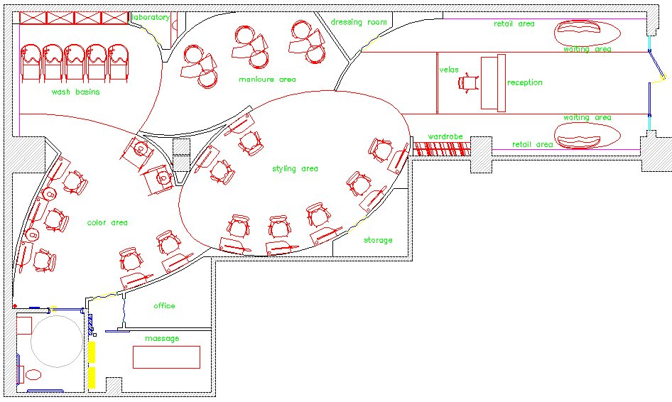 beauty salon floorplans unique house plans