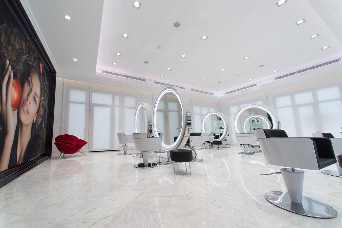 salon de coiffure ultra moderne